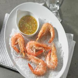 Salt-roasted Gulf Shrimp with Orange-Honey dipping sauce