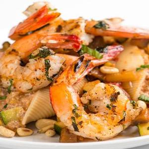 Grilled Gulf Shrimp and Ratatouille Pasta