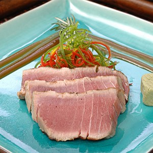 Blackened Yellowfin Tuna With Soy-Mustard Sauce