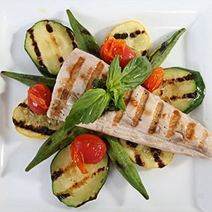 Char-Grilled Mahi-Mahi with Vegetables