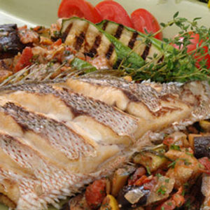 Crispy Snapper with Ratatouille