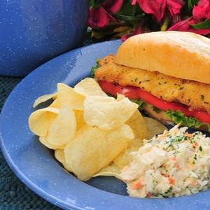Fisherman\'s Favorite Mullet Sandwich