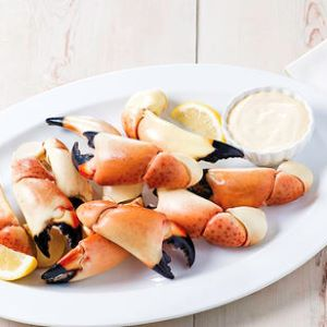 Gulf Stone Crab Claws with Key Lime Mustard Dipping Sauce