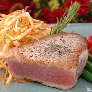 Gulf Yellowfin Tuna with Pepper Garlic Crust