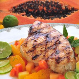 Grilled Swordfish with Mango Citrus Salsa