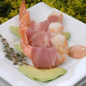 Honey Mustard Shrimp and Prosciutto