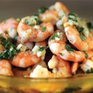 Lime-Garlic Broiled Shrimp