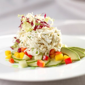 Gulf Blue Crab Salad with Mango, Cucumber and Avocado
