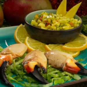 Mango Marinated Stone Crab Claws