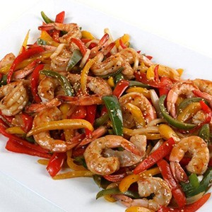 Gulf Shrimp and Sweet Pepper Stir Fry with Honey-Citrus Glaze