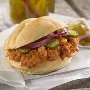 Pulled Barbecue Shrimp Sandwiches