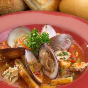 Red Sunset Clam Chowder