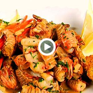 Garlic Roasted Peel-and-Eat Rock Shrimp