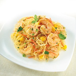 Lemongrass Mango Gulf Shrimp with Vermicelli Rice Noodles