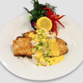 Gulf coast seafood pan seared red fish with lump crabmea for Red fish recipes